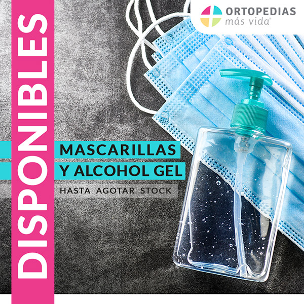mascarillas y alcohol gel covid-19